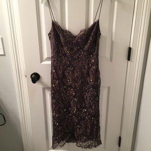 JCREW Purple and Gold Lace Dress!!